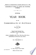 Official Year Book Of The Commonwealth Of Australia No 24 1931