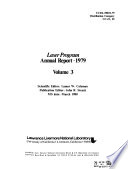 Laser Program Annual Report