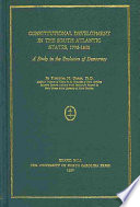 Constitutional Development in the South Atlantic States, 1776-1860