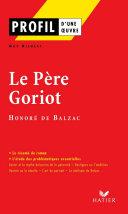 Pdf Profil - Balzac (Honoré de) : Le Père Goriot Telecharger