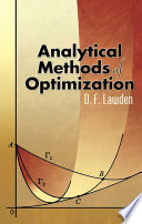 Analytical Methods of Optimization
