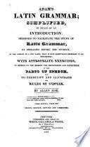 Adam s Latin Grammar Book PDF