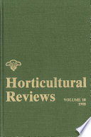 """Horticultural Reviews"" by Jules Janick"