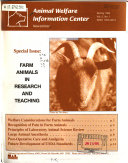 Animal Welfare Information Center Newsletter