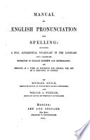 A Manual of English Pronunciation and Spelling Book