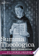 Summa Theologica  Volume 3  Part II  Second Section