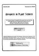 Advances in Plant Sciences