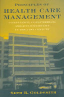 Principles of Health Care Management