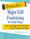 Major Gift Fundraising for Small Shops