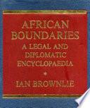 African Boundaries Book