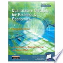 Valuepack:Quantitative Methods for Business and Economics/Economics for Business and Management:A Student Text/the Business Students Handbook