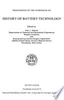 Proceedings of the Symposium on History of Battery Technology
