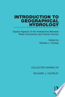 Introduction to Geographical Hydrology