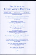 Pdf The Journal of Intelligence History