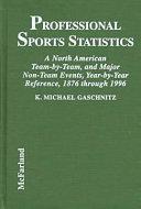 Professional Sports Statistics