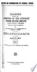 Selection and Confirmation of Federal Judges