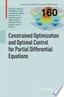 Constrained Optimization And Optimal Control For Partial Differential Equations Book PDF