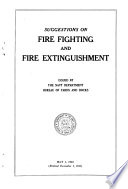Suggestions on Fire Fighting and Fire Extinguishment