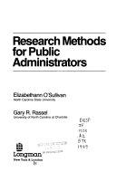 Research Methods for Public Administrators Book PDF