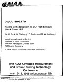 20th AIAA Advanced Measurement and Ground Testing Technology Conference