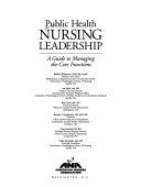 Public Health Nursing Leadership