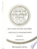Adult Literacy in National Development