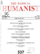 Pdf The Radical Humanist