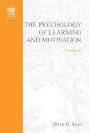 The Psychology of Learning and Motivation Pdf/ePub eBook