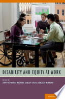 Disability And Equity At Work Book PDF