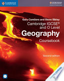 Books - Cambridge IGCSE And O Level Geography Coursebook With Cd-Rom | ISBN 9781108339186