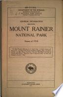 General Information Regarding Mount Rainier National Park