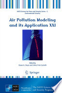 Air Pollution Modeling And Its Application Xxi Book PDF