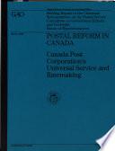 Postal Reform in Canada