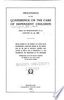 Proceedings Of The Conference On The Care Of Dependent Children