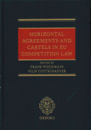Horizontal Agreements and Cartels in Eu Competition Law Book