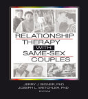 Relationship Therapy with Same Sex Couples