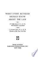 What Every Retailer Should Know about the Law