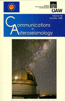 Communications in Asteroseismology