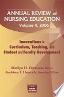 Annual Review Of Nursing Education Volume 4 2006