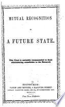 Mutual Recognition in a Future State Book