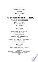Report on the Affairs of Khelat  from 1857 1860