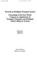 Towards An Intelligent Transport System Book PDF