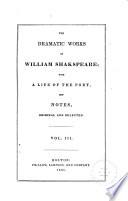 The Dramatic Works of William Shakspeare  Winter s tale  Comedy of errors  Macbeth  King John  King Richard II  King Henry IV  part 1