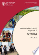 Evaluation of FAO   s country programme in Armenia 2016 2020 Book