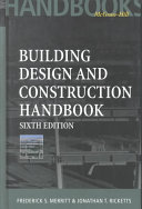 Cover of Building Design and Construction Handbook, 6th Edition