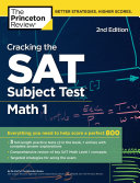 Cracking the SAT Subject Test in Math 1  2nd Edition Book