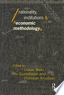Rationality Institutions And Economic Methodology