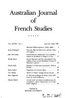 Pdf Australian Journal of French Studies