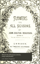 Flowers for all seasons  stories  essays and poems