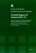 Fortieth report of session 2012-13